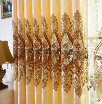 European high-grade water-soluble thorn embroidered curtain cloth gauze curtain shading product customization roomEuropean high-grade water-soluble thorn embroidered curtain cloth gauze curtain shading product customization room