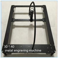 2016 Latest Laser Engraving Laser Engraving Machine DIY Black Metal Body 300 MW 30X40cm Engraving Area
