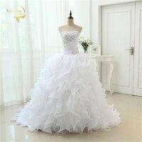 Fashion A Line Vestidos De Noiva Applique With Beading Robe De Mariage Bridal Gown Ruffles Wedding