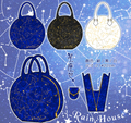 Anime Lolita Gorgeous Constellation Gold Embroidery Satchel Handbag Shoulder Bag