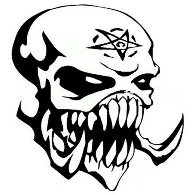 152cm166cm Personalized Alien Skull Head Outer Space Vinyl Decal