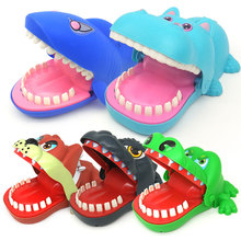 New hot sale Global creativity Dental dentist bite finger game large size crocodile hippo Godzilla Dog Interesting toy Spoof gif