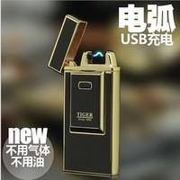 Tiger plasma usb-gebühren Arc Leichter USB winddicht elektronische zigarette feuerzeuge Neuheit Elektrische Rauch zigarettenanzünder