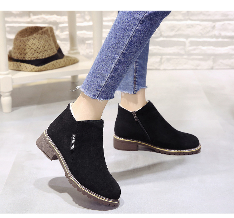 2018 new Boots Woman Shoes Winter Female Warm Fur Water-resistant Upper Fashion Non-slip Sole Free Shipping New Style Snow Boot (6)