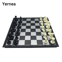 Yernea New Chess Game And Checkers Backgammon Folding Magnetic Entertainment Strengthening Large Set