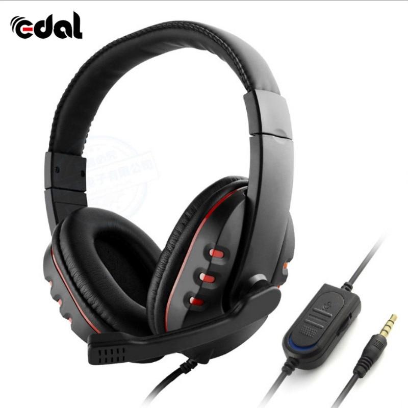 Эдал стерео наушники гарнитура шлем глубокий бас компьютерных игр гарнитура с микрофоном для PS4/XBOX-ONE/PC Игры наушники