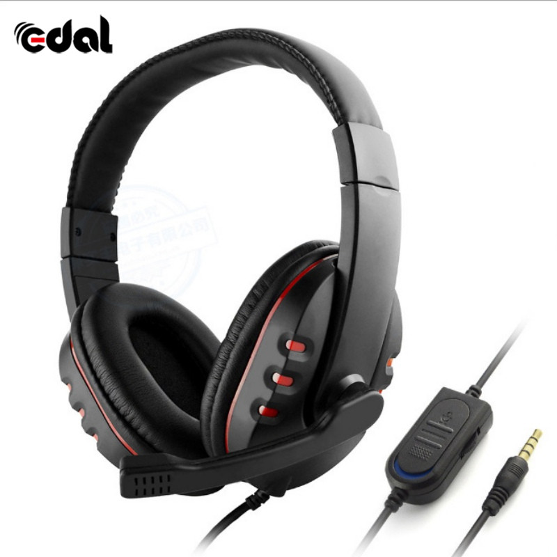 Edal Stereo Headphone Headset Casque Deep Bass Computer Gaming Headset with Mic for PS4/ ...