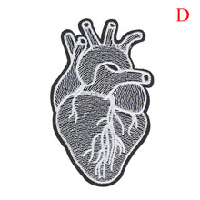 Rock Iron On Motorcycle Jacket, 1PCS Back Big Patches Cheap Embroidered Large Patches For Clothing Jeans Heart Punk Patch Biker(China)