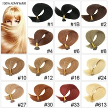 22inch 1g/S Pre Bonded I Tip Hair Extension 100% Human Hair Silky straight Remy Hair 100g Stick Keratin Extension 100pcs