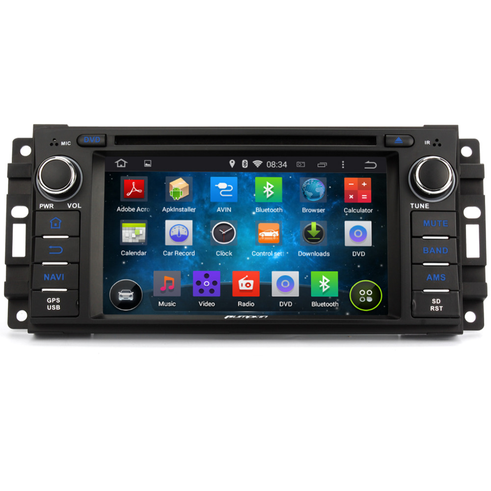 7Inch Touchscreen Quad Core 1.6GHz Android 4.4 Car DVD Radio GPS For <font><b>Jeep</b></font> Wrangler Dodge Journey Audio Radio 1080P Mirror Link