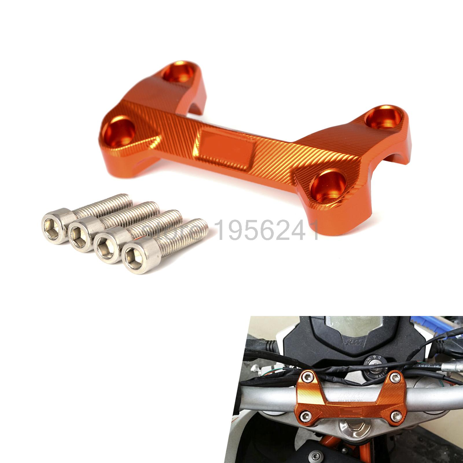 NICECNC CNC HandleBar Handle Bar Fat Bar Mount Clamp For KTM 125 200 390 Duke 2011 2012 2013 2014 2015 2016 motorcycle spring for cf400 duke ktm 125 duke 200 duke 390 handlebar balance bar can be stretched cross bar