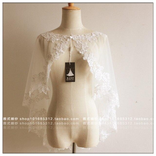 Women Lace Bolero White Brides Dress Accessories Real Photo Brides