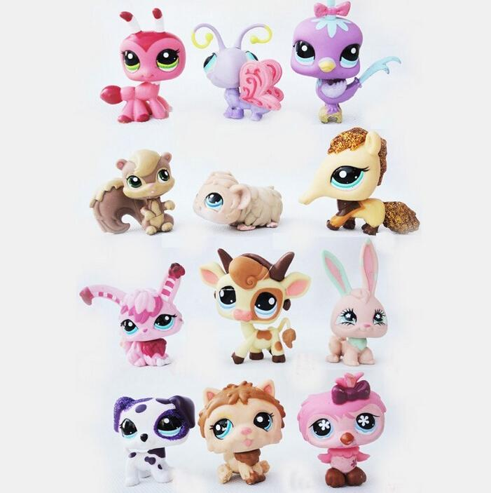 Children Kids toys Gift LPS 12Pcs/Set Little Pet Shop Mini Figures Toys Little Animal Cat Dog Action Figures 20pcs bag little pet shop toys littlest cartoon animal cute cat dog loose action figures collection kids girl toys gift