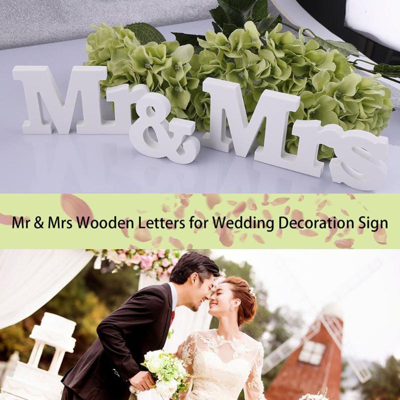 3 шт./компл. деревянные буквы мистер и миссис Свадебные украшения романтический брак на день рождения свадьба знак Главная свадьбу Декор