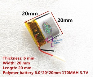 Image 4 - 最高のバッテリーブランド 062020 602020 170 2600MAH の 3.7 3.7v 高容量リチウムポリマー電池の bluetooth スピーカーおもちゃ