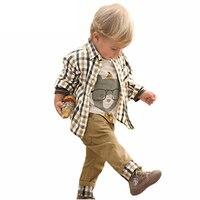 2016 Baby Boys Clothes Set Spring Autumn Children Clothing Baby Boys Clothing Sets Shirt Trousers Toddler