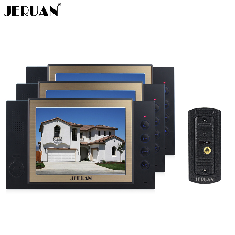 JERUAN 8`` video door phone intercom system doorbell doorphone speaker intercom with recording photo taking outdoor rain-proof jeruan new doorbell intercom doorphone wireless video door phone with memory image station outdoor night vision function