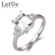 Leige Jewelry Natural White Topaz Rings Proposal Rings font b November b font font b Birthstone