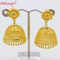 Adixyn India Hollow Swing Bollywood Ethnic Earrings For Women Gold Color/Copper Manual Jewelry Party/Birthday Gifts N082618