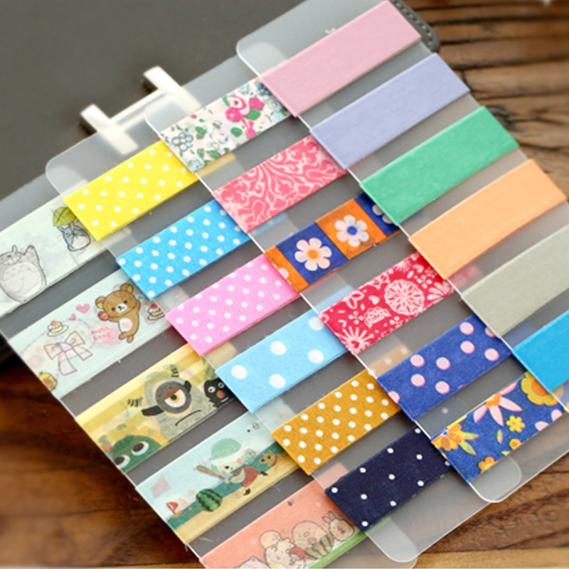6pcs/lot Japanese Kawaii Sticky Tape Accessories Matte PVC Washi Tapes Tools Wrap Band Paper Sticker Winding tool