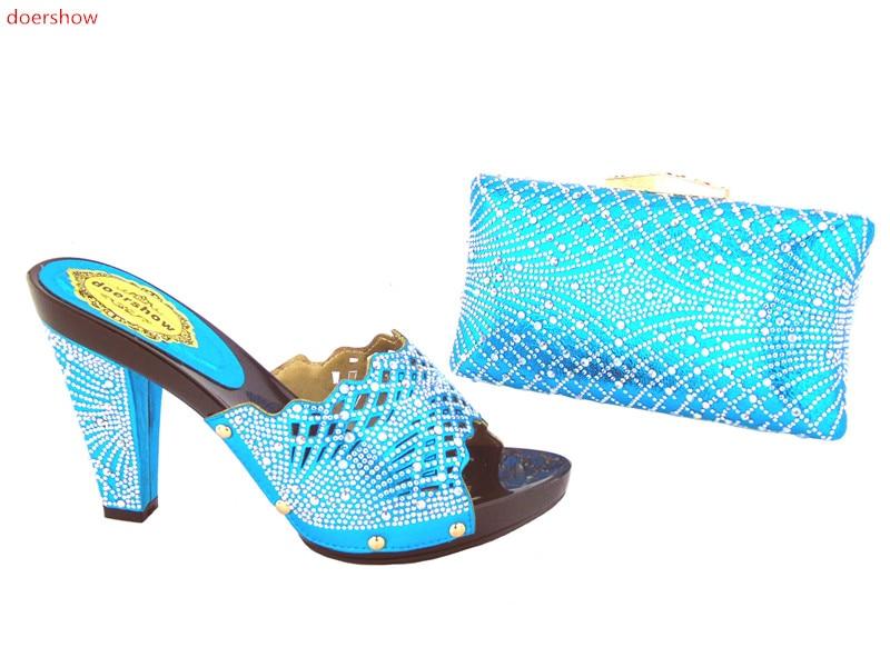 Fashion Matching Italian Shoes and Bag Set sky Blue Color African Women Matching Italian Shoe and Bag Set doershow AS1-27 blue sky чаша северный олень