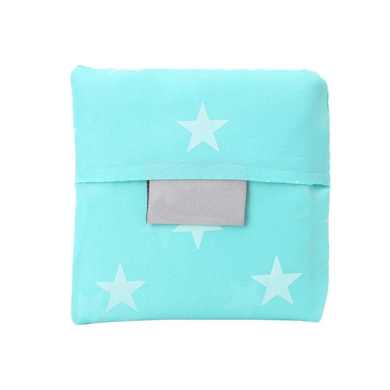 2017 Women Shopping Handbags THINKTHENDO Reusable Supermarket Tote Folding Grocery Bags Large Capacity Casual Dot Printing New
