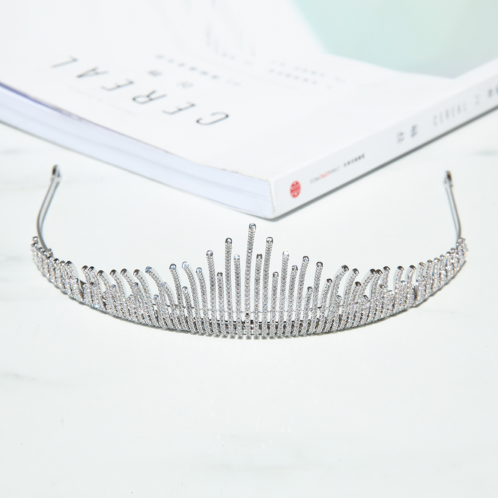 Parmalambe Silver Petite Zircon Hair Tiaras In Clear High Quality Hair Jewelry Bridal Headpieces Crown Wedding Hair Accessories цена