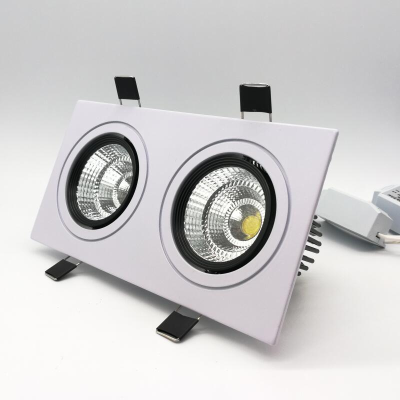 Grande ronde fixe GU10 Downlight Spotlight Rond 98 mm Lunette Noir//Blanc Chrome
