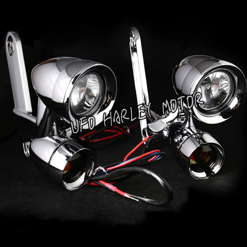 Passing lamps - Page 3 Chrome-Fairing-Mounted-Driving-Lights-with-Turn-Signals-for-Harley-Road-King-97-16-Parts