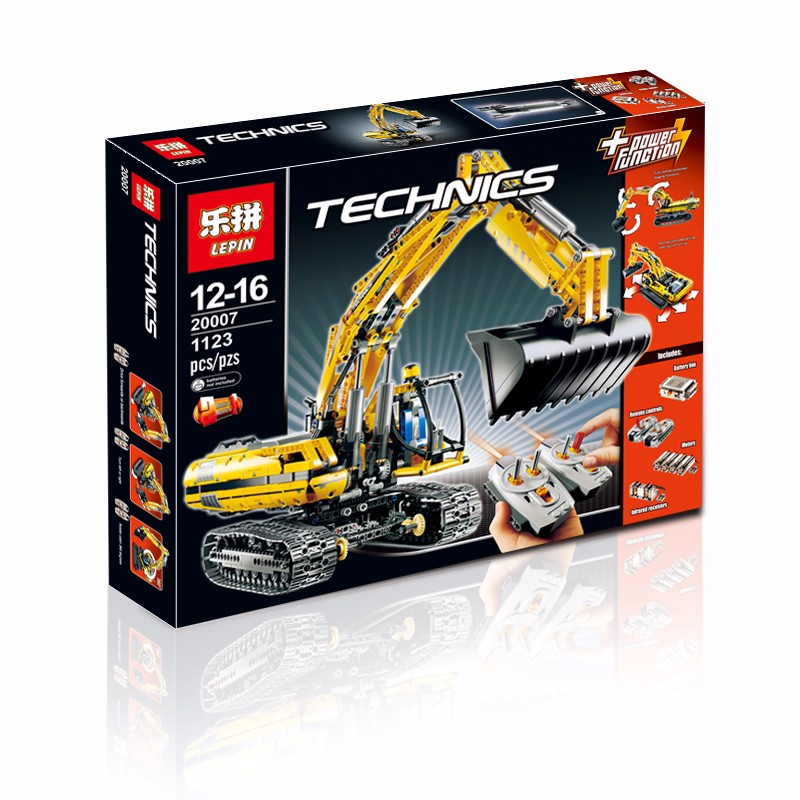 2016 lepin 1123pcs 20007 technic series excavator model building kit minifigure blocks brick compatible toy christmas gift 8043