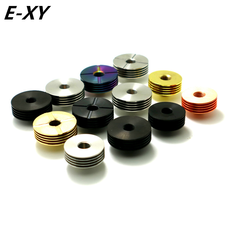 Original E-XY 22mm 24mm 25mm 510 Heat Dissipation Heat Sink For 510 Tread Adaptor RDA RDTA Atomizers E Cigarette Box Mod