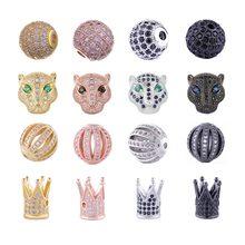Juya-perles pour femmes et hommes, accessoires pour fabrication de bracelets, en pierres naturelles, perles breloque, bricolage