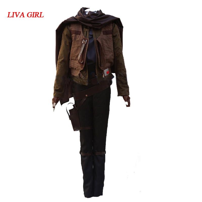 2017 Jyn Erso cosplay Costume Rogue One A Star Wars Story costume Jyn Erso Outfit Adult
