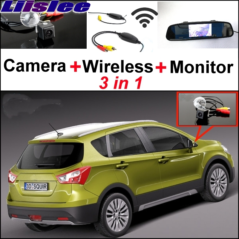 Liislee Special Camera + Wireless Receiver + Mirror Monitor Parking System For Suzuki SX4 SX-4 SX 4 Hatchback MK1 MK2 2006~2017 wireless pager system 433 92mhz wireless restaurant table buzzer with monitor and watch receiver 3 display 42 call button