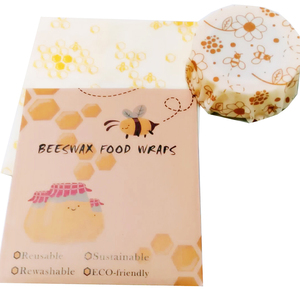 Image 3 - 3PCS Reusable Beeswax Wraps Food Seal Fresh Wrap Beeswax Cloth Wrap EcoFriendly Food Wrap For Sandwich Fruit Cover Kitchen Tools