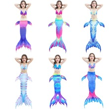 Childrens Swimming Mermaid Swimwear Cosplay Little Tail Costume Dress Girl Swimsuit Spa