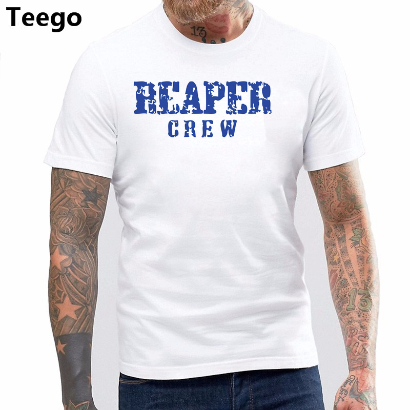 US $6 39 20% OFF|Men's Reaper Crew T Shirt SHOW TV SERIES GANG BIKES  LEATHER GIFT PRESENT DVD Shirt Cotton Hight Quality Man T Shirt-in T-Shirts  from