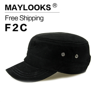 Maylooks New Men Cap Military Hat Male Hat Cotton Camping Fishing Unisex Baseball Cap Army Military Hats for Women CS31