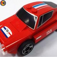 SK Promoção Red Engraçado Pequeno Carro Velocidade Pull-back Blocos Conjunto de Brinquedos Baratos para Crianças
