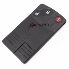 Keyecu REPLACEMENT Shell Smart Card Remote Key Case Fob for MAZDA CX 7 CX 9 RX8