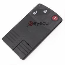 Keyecu REPLACEMENT Shell Smart Card Remote Key  Case Fob for MAZDA CX-7 CX-9 RX8 5 6  Miata 3 BTN