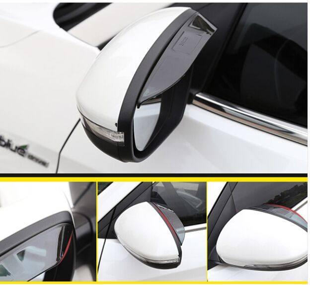 Hot Fit For Hyundai Sonata Lf 2017 2016 Side Wing Door Mirror Rain Snow Guard Visor Shade Shield Rear View Tint Rearview 2pcs In Chromium Styling From