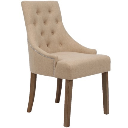 European style classical dining chair soft cotton linen fabric  wood hotel retro dining chair home dining chair
