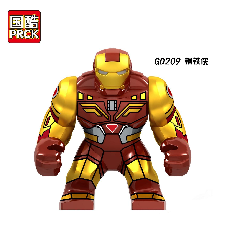 30PCS Big Blocks Marvel War Machine Iron Man Black Panther Thanos Infinity Gauntlet Figures Building Blocks