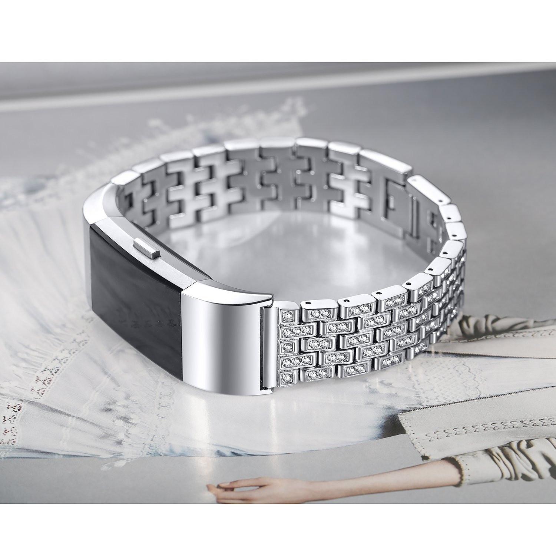 Ремешок для браслета на запястье для Fitbit Charge 2, Модный повседневный ремешок для часов с застежкой крючком из нержавеющей стали, 2019|Ремешки для часов|   | АлиЭкспресс