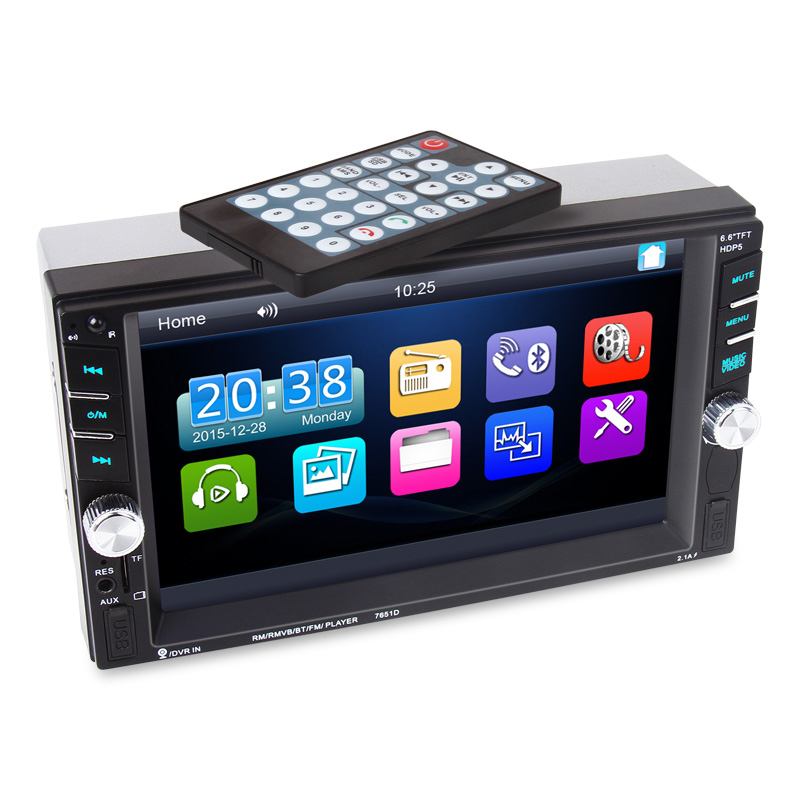 eCos 6.6 inch HD 2 Din MP5 MP4 Player Touch screen Car FM Radio stereo Bluetooth support rear camera 2 USB port FM #94629eCos 6.6 inch HD 2 Din MP5 MP4 Player Touch screen Car FM Radio stereo Bluetooth support rear camera 2 USB port FM #94629