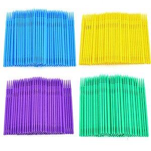 Image 5 - 100pcs Disposable Makeup Brushes Swab Microbrushes Eyelash Extension Tools Individual Lash Removing Tools Lint Free