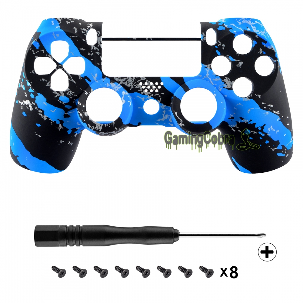 Ocean Blue Soft Touch Upper Housing Shell for PS4 Pro Slim JDM-040 Controller
