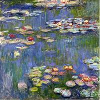 High quality handmade landscape oil painting on canvas Water Lilies Claude Monet home picture decor modern art
