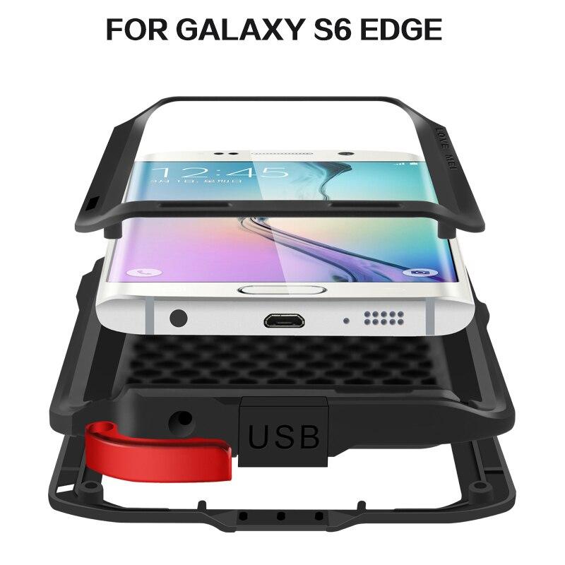imágenes para S6 Edge Original AMOR MEI Extreme vida Potente Waterproof Case Dropproof Del Metal Para El Samsung Galaxy S6 G9250 Borde + retail, freeship